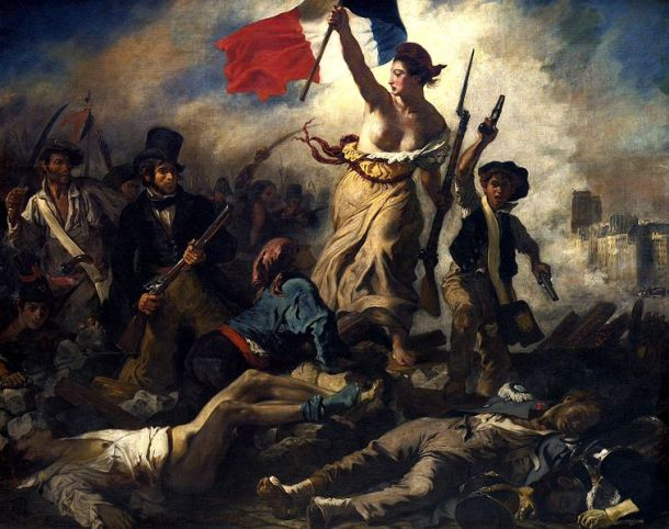 "Eugène Delacroix's famous painting ""Liberty Guiding the People"" depicts the July Revolution of 1830, not the barricades of ""Les Miserables"""